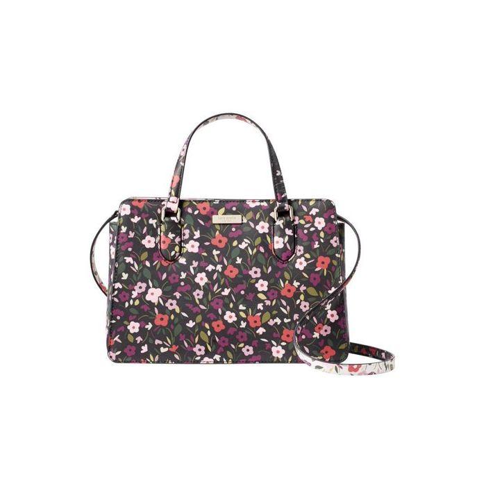 Kate Spade Laurel Way Boho Floral Reese Handbag-Black/Floral Multi