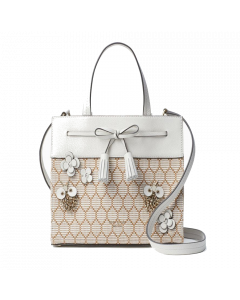 Kate Spade New York Hayes Bee Embellished Small Satchel - Natural
