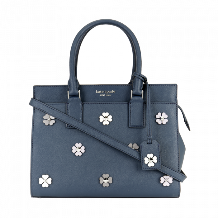 Kate Spade Cameron Saffiano Leather Large Satchel Convertible Crossbody - Blue