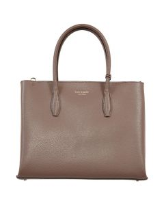 Kate Spade New York Eva Medium Zip Top Satchel Crossbody Shoulder Bag - Light Walnut