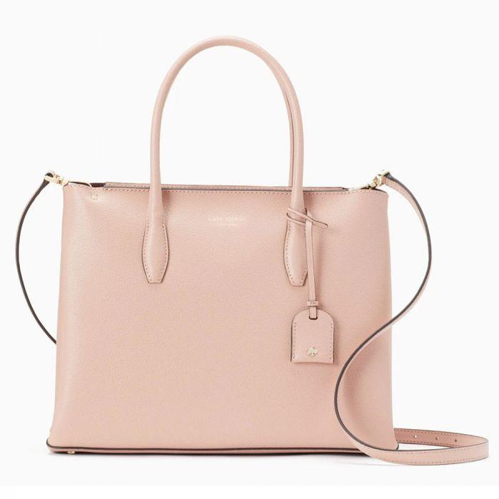 Kate Spade New York Eva Medium Zip Top Satchel Crossbody Shoulder Bag - Rosy Cheeks