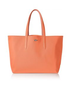 Lacoste Anna Reversible Tote Bag- Coral Lobster Bisque