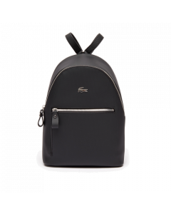 Lacoste Daily Classic Coated Pique Canvas Backpack - Black