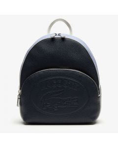 Lacoste Women's Croco Crew Grained Leather Mini Backpack - Peacoat Purple Impression