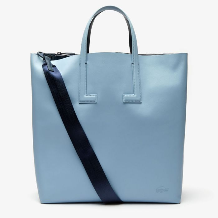 Lacoste Women's Reversible Leather Tote Bag with Detachable Strap - Arctic Oceania