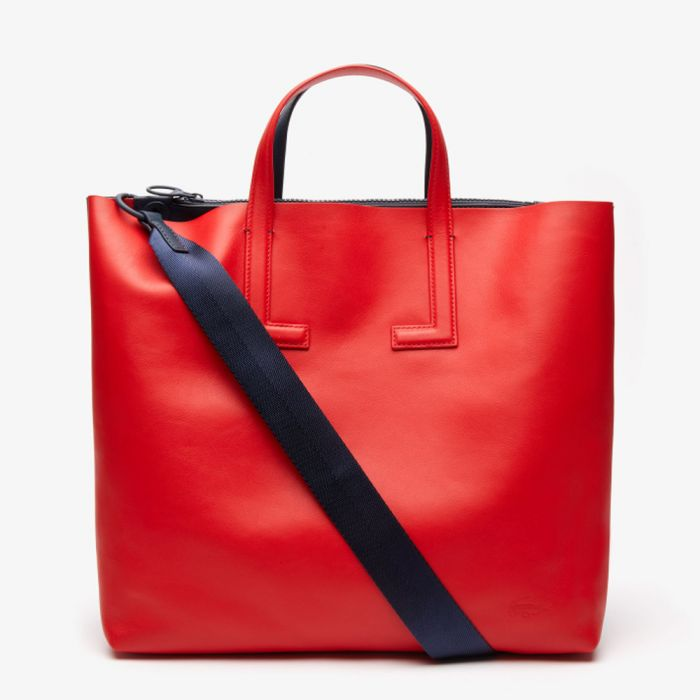 Lacoste Women's Reversible Leather Tote Bag with Detachable Strap - Parrot Oceania
