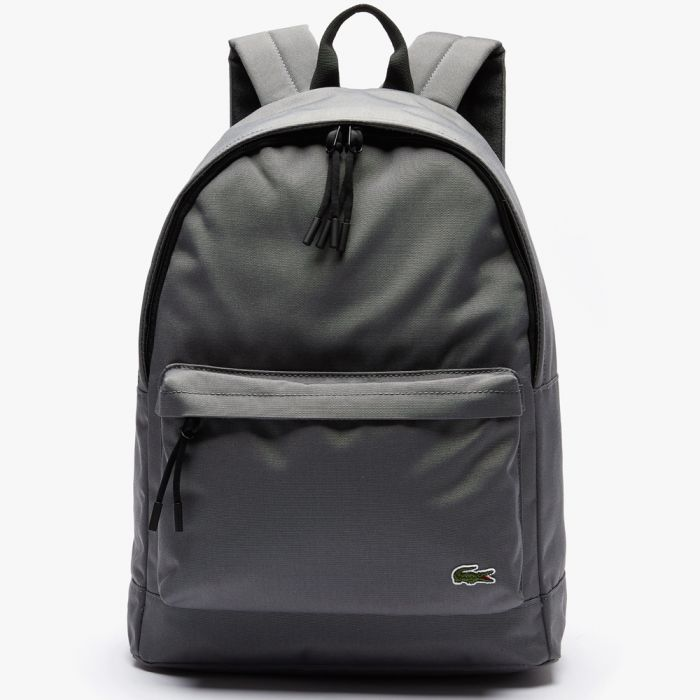 Lacoste Neocroc Classic Solid Backpack - Smoked Pearl Noir