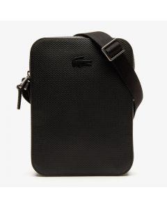 Lacoste Men's Chantaco Soft Leather Vertical Bag - Black