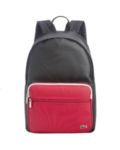 Lacoste Black Tango Red Backpack