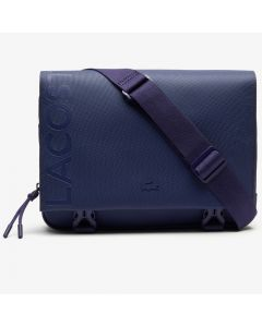 Lacoste L.12.12 Clipped Flap Adjustable Shoulder Strap Small Pouch - Blue Depths