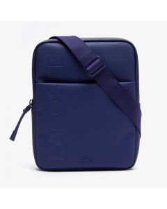 Lacoste Classic L.12.12 Vertical Zip Camera Bag - Blue Depths