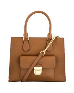Michael Kors Bridgette Leather Tote - Luggage