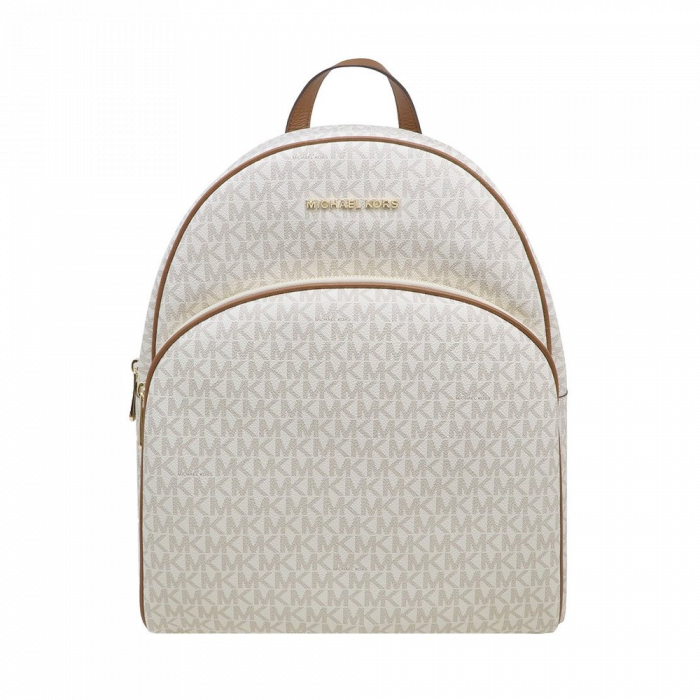 Michael Kors Abbey Large Logo Backpack - Vanilla