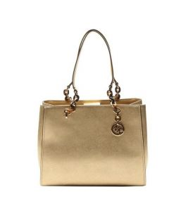 Michael Kors Sofia Large Leather Tote - Gold