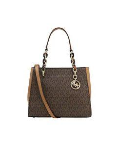 Michael Michael Kors Sofia Medium Tote Bag - Brown/Acorn