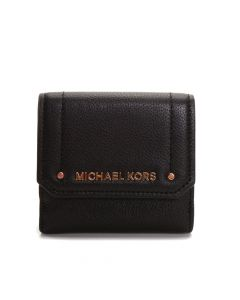 Michael Kors Women's Hayes Trifold Coin Case Wallet- Black