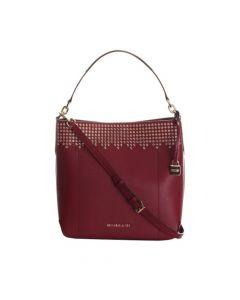 Michael Kors Hayes Large Leather Bucket Shoulder Bag - Mulberry