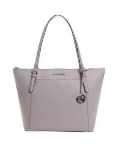 Michael Kors Ciara Large Ew Tz Top Zip Handbag - Gray