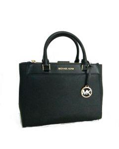 Michael Kors Adrienne Kellen Leather Satchel - Black