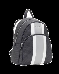 Michael Kors Medium Abbey Canvas Backpack - Black Stripe