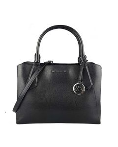Michael Kors Kimberly Large Satchel Leather Bag - Black