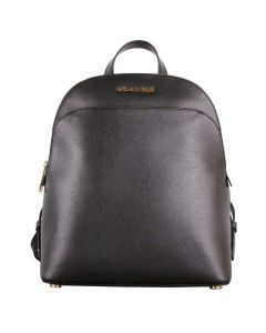 Michael Kors Emmy Leather Large Dome Backpack - Black