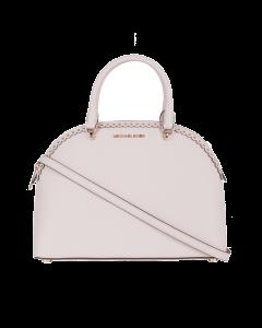 Michael Kors Emmy Leather Studded Scalloped Edge Shoulder Bag - Blosson