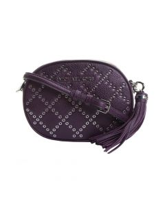 Michael Kors Ginny Grommet Studded Crossbody Bag - Damson