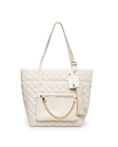 Steve Madden Kari Quilted Tote - Cream