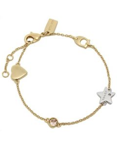 Coach Women's Stardust Signature Chain ??Bracelet - Gold/Multi