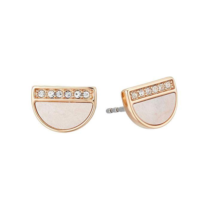 Fossil Women's Earrings Mother of Pearl Stud - Pink
