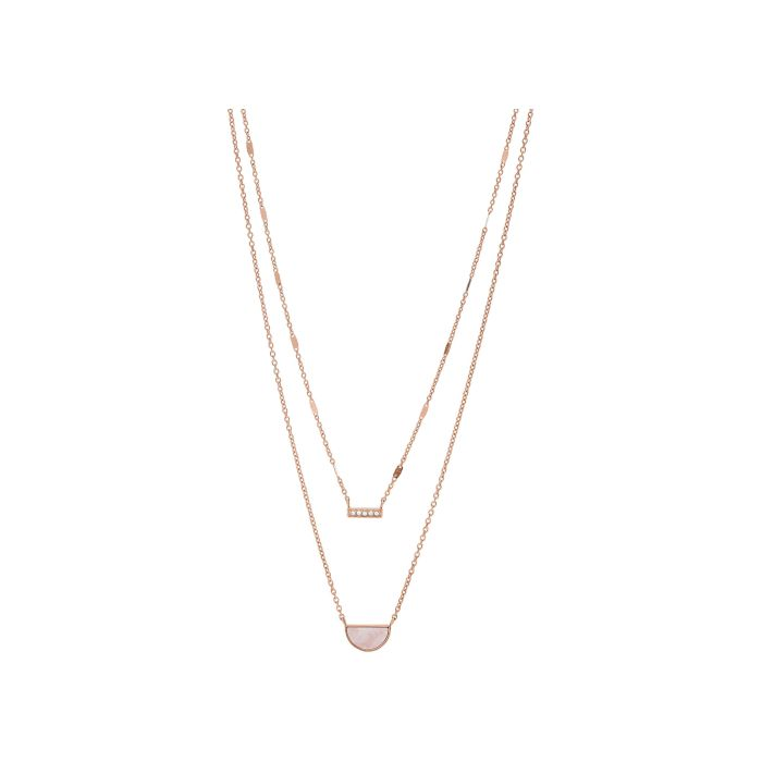 Fossil Women's Necklace Vintage Iconic - stainless steel rose Gold