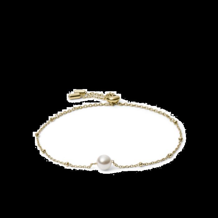 Fossil Beaded Bracelet Gold-Tone Stainless Steel