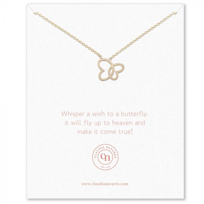 Claudia Navarro Butterfly Necklace - Gold