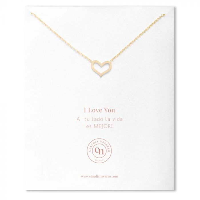 Claudia Navarro Edge Heart Necklace - Gold