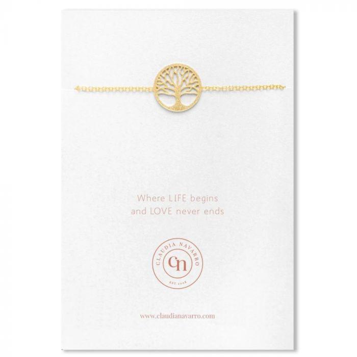 Claudia Navarro Tree of Life Bracelet - Gold