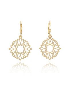 Tanya Moss Women's Zen Lotus Flower Earrings - Gold