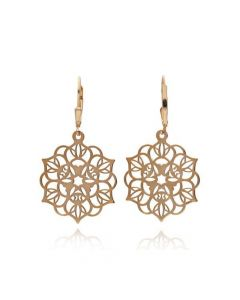 Tanya Moss Women's Zen Mandala Earrings - Rose Gold