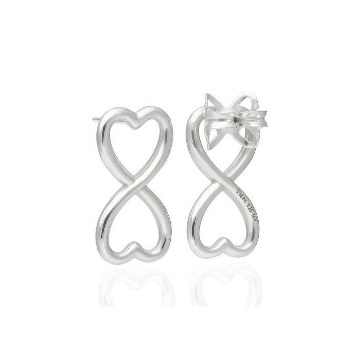 Tanya Moss Endless Heart Sterling Earings - Silver