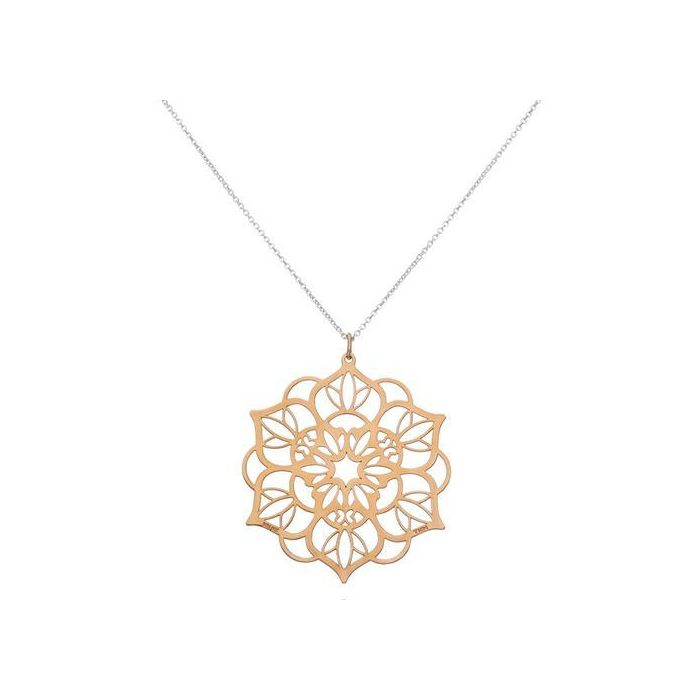 Tanya Moss Women's Necklace Zen Mandala Pendant with Vermeil- Rose Gold