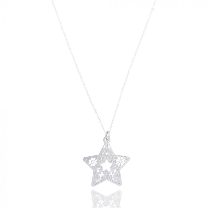 Tanya Moss Women's Necklace Mexicanized Star Pendant- Sterling Silver