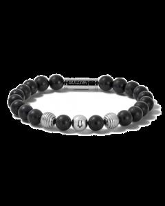 Bulova Men's jewelry Bracelet Onyx & Stainless Steel
