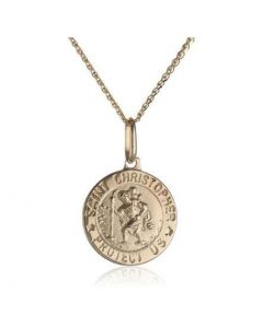 14K Yellow Gold Saint Christopher Medal