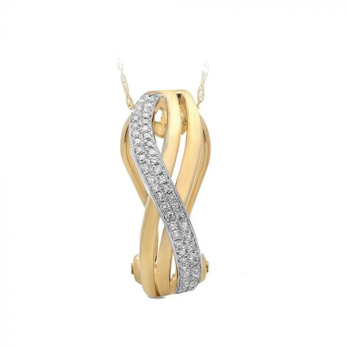 14K Yellow Gold 0.15tw(Hi/I1i2)sc Diamond Pendant