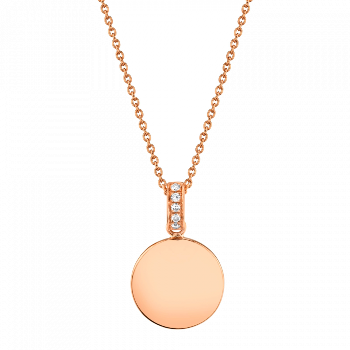14K 0.02CT Rose Gold Diamond Necklace