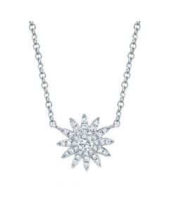 14K 1.80 White Gold Diamond Necklace