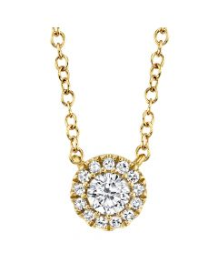 14K Y/G 0.14Ct Diamond Necklace