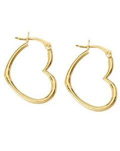 14kt Yellow Gold Heartshape Hoop Earrings