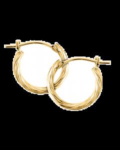 14K Gold Kiddie Kraft Childrens Safety Hoop Earrings