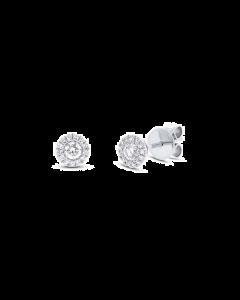 14K White Gold Diamond Stud Earring